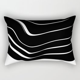 Organic No. 10 Black & White #minimalistic #design #society6 #decor #artprints Rectangular Pillow