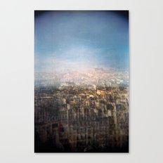 Paris Multiple Exposure  Canvas Print