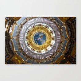 State Capitol Building Des Moines Iowa USA Canvas Print