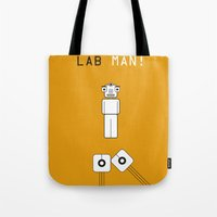 lab Tote Bags featuring Lab Man by Artricca