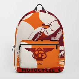 Motorcycle Club de France - Vintage Poster Backpack