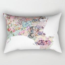 Antibes map Rectangular Pillow