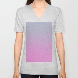 UNLIKE OTHER - Minimal Plain Soft Mood Color Blend Prints Unisex V-Neck