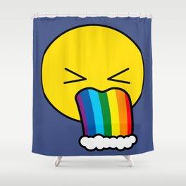 Puke Rainbow - Emoji Shower Curtain