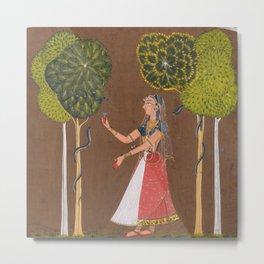 Snake Charmer - Indian Painting Metal Print