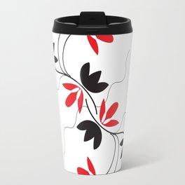 Digital Art Red Vines Travel Mug