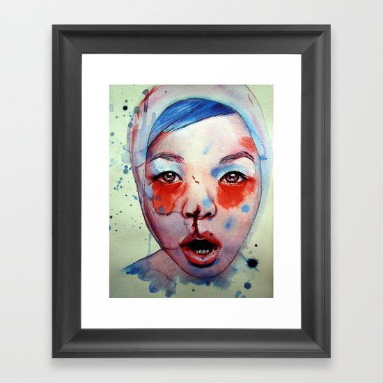 Red, White & May Framed Art Print