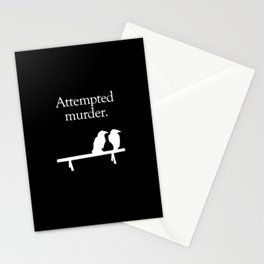 Attempted Murder (white design) Stationery Cards