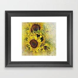 Painted Sunflowers Framed Art Print