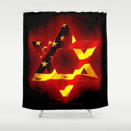 UNITED STATE OF ISREAL 011 Shower Curtain