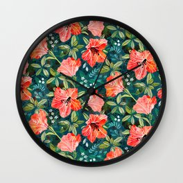 Vibrant Rhododendrons Wall Clock