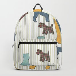 Going To The Dogs Plaid Terriers Backpack