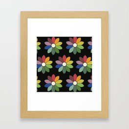 Flower pattern based on James Ward's Chromatic Circle (vintage wash) Framed Art Print