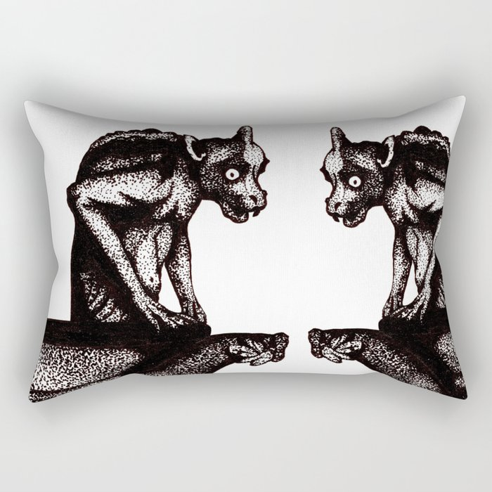 Black Gargoyle Rectangular Pillow