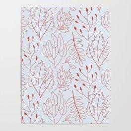 Plant leaf pattern Poster