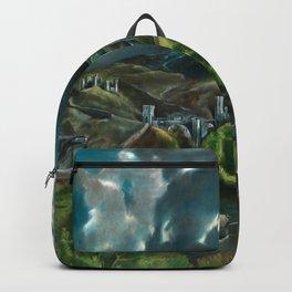 """El Greco (Domenikos Theotokopoulos) """"View of Toledo"""" Backpack"""