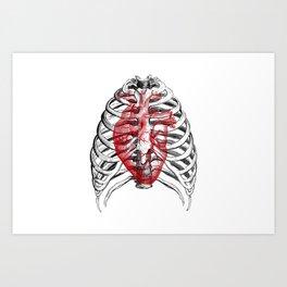 Heart Bones Art Print