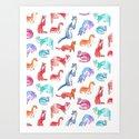Rainbow weasels by victoriasochivko