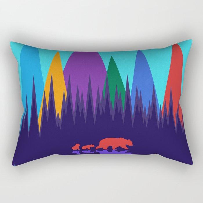 Bear & Cubs #3 Rectangular Pillow