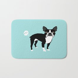 Boston Terrier funny fart dog pure breed gifts dog lovers Bath Mat