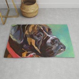 Boxer Dog Keeley Pet Portrait Rug