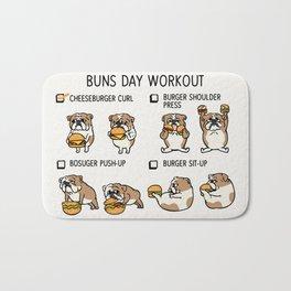 Buns Day Workout Bath Mat