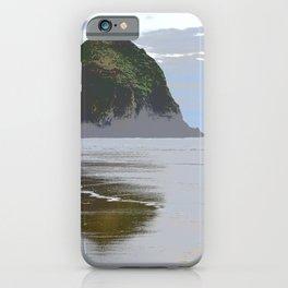 Illustrated Haystack Rock iPhone Case