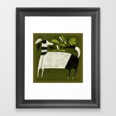BLACK & WHITE PAJAMAS Framed Art Print