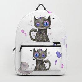 Black cute kitten Backpack