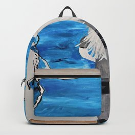 Blue Sky and the Future Painting by Jodi Tomer. Blonde Girl Portrait Backpack