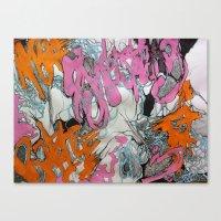 grafitti Canvas Prints featuring Grafitti by Lynné