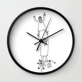 How Jesus helped me to win Satan during my first communion Wall Clock