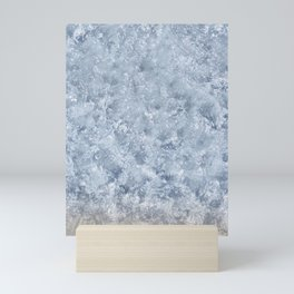 clear blue ocean sea water in Sardinia island Italy white sand photography print Mini Art Print