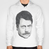 swanson Hoodies featuring Ron Swanson by Lina