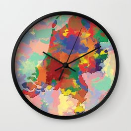 Netherlands, Outline, Map Wall Clock