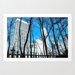 Bryant Park in Winter Art Print