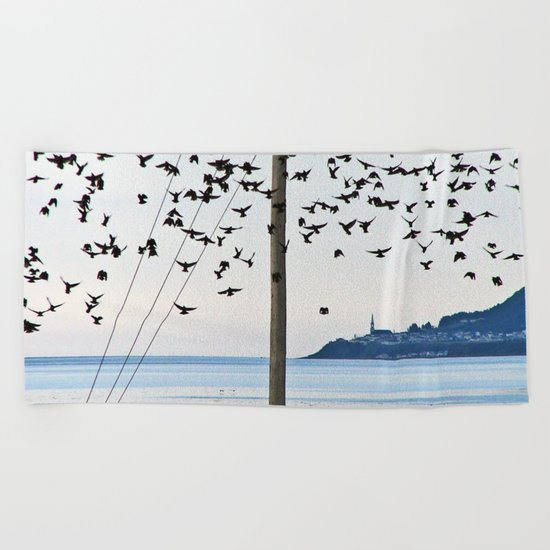 Birds in Flight Beach Towel