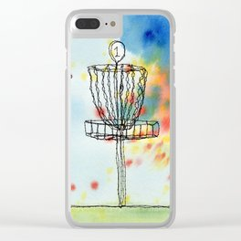 Disk Golf Basket Clear iPhone Case