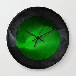 Neon Crevasse Wall Clock