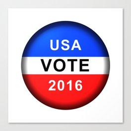 Vote Button 2016 Canvas Print