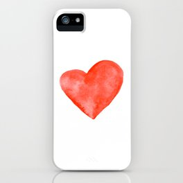 Red Watercolor Heart iPhone Case