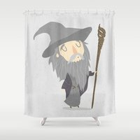 gandalf Shower Curtains featuring Gandalf the grey by Rod Perich