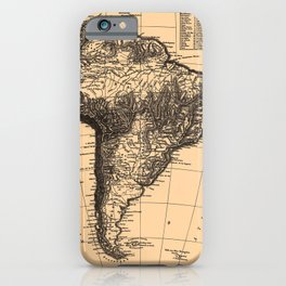 Iconographic Encyclopedia of Science, Literature and Art (1851) - Map of South America iPhone Case