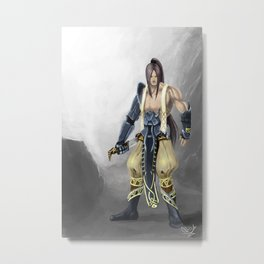 Samurai- Fenrir Metal Print