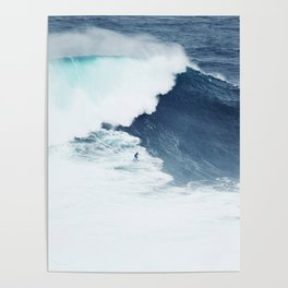 Wave Surfer Indigo Poster