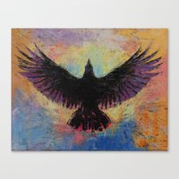crow Canvas Prints featuring Crow by Michael Creese