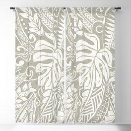Vintage Organic Samoan Tribal Design Blackout Curtain