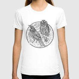 Tui and Morepork T-shirt