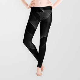 Black and White Flux #minimalist #homedecor #generativeart Leggings
