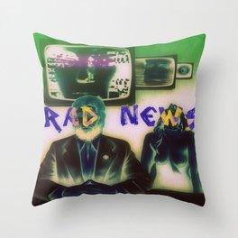 RAD NEWS Throw Pillow